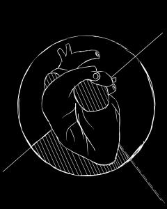 illustration of a dog heart