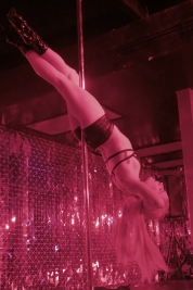 performer on pole