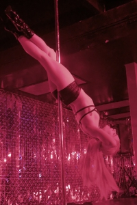 performer on pole